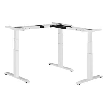 höhenverstellbares Tischgestell ergon master Eckversion T8-E6-00 weiss