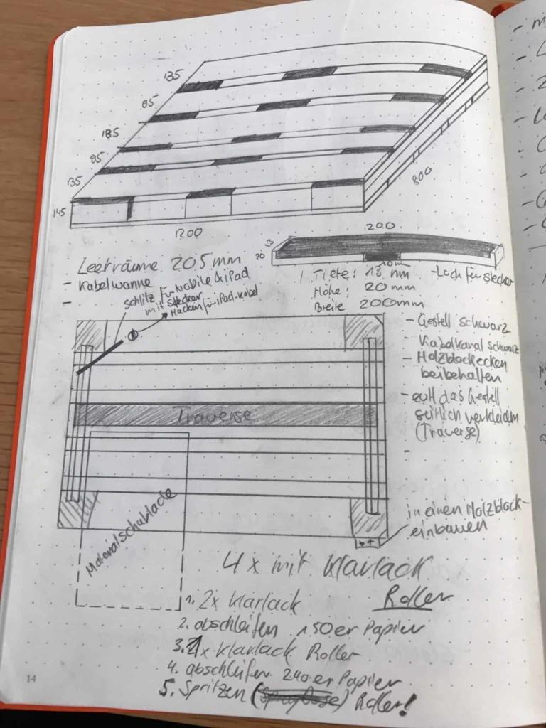 Planung Elektrischer Recycling Schreibtisch