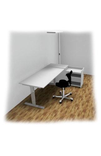 Bürotisch Bürostuhl Stehleuchte Stauraum Start-Up - HomeOffice