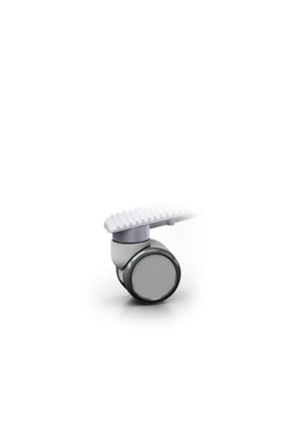 weiche Rollen für harte Böden 65mm grau‣ solergo.ch