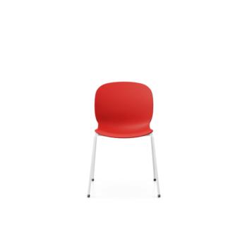 RBM Noor 6050 rote Sitzschale weisser Fuss front