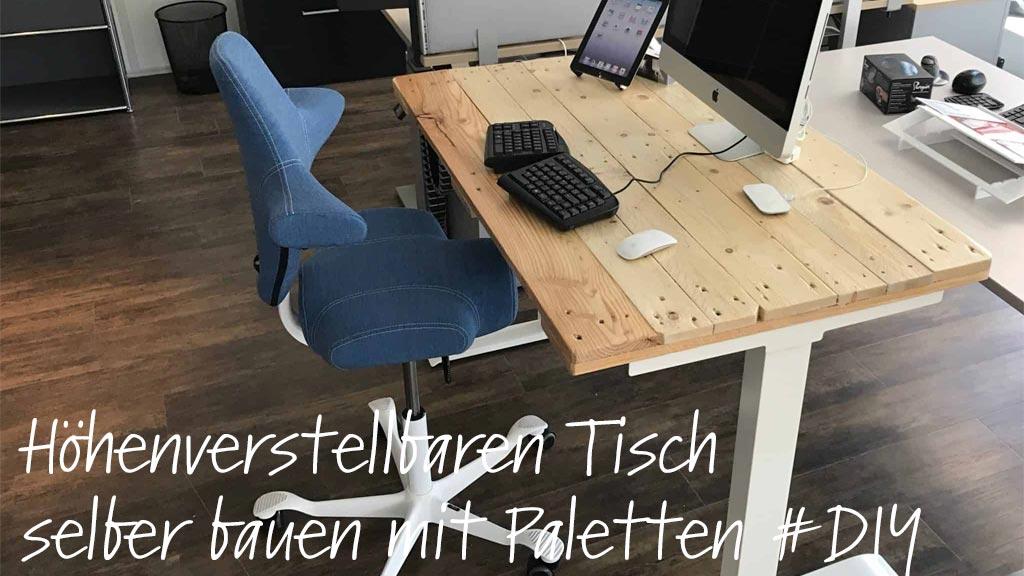 Diy Elektrischer Schreibtisch Mit Paletten Recycling Solergo Ch