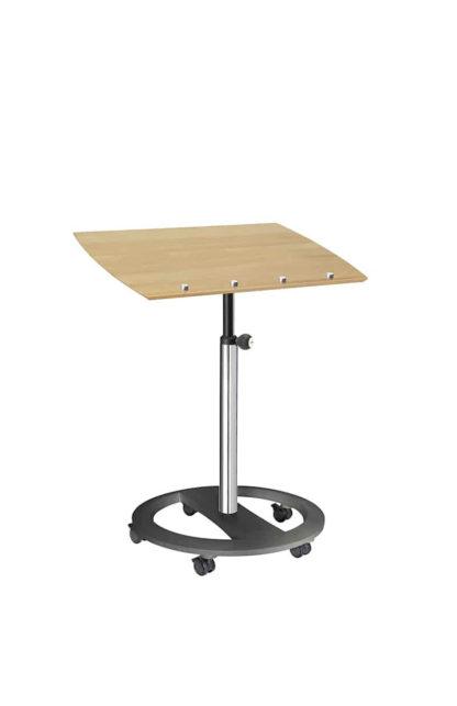 Steh-Sitzpult rolls drive hochglanz Buche‣ solergo.ch