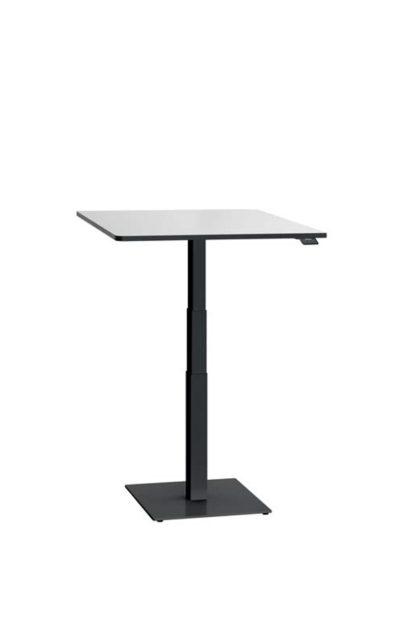ergon mono Steh-Sitzlift Gestell schwarz mit Tischplatte