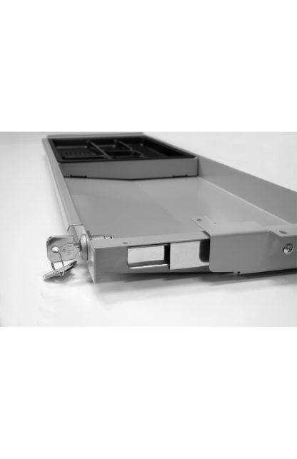 Tischschublade Silber abschliessbar| solergo.ch