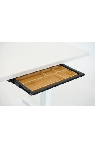 Tischschublade Materialauszug schwarz mit Bambus Inlay| solergo.ch